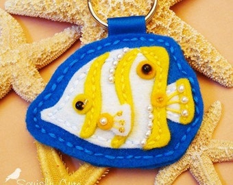 Bubbles The Butterfly Fish Keychain - PDF Pattern and Tutorial