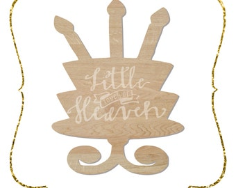 "SALE!!! 12"" Birthday Cake Cut Out / Door Hanger / Wreath Decoration / unfinished/ 1/8""  Wood"