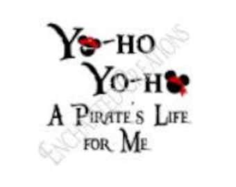 SVG/EPS/DXF/png file - YoHo YoHo Pirates Life for Me