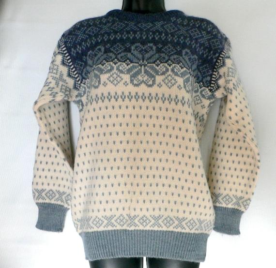 Dale of Norway Vintage 100% Wool Nordic Fair Isle Sweater