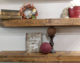 "36"" Floating Shelf, Farmhouse Shelf, Farmhouse Decor, Rustic Floating Shelf, Chunky Shelf"