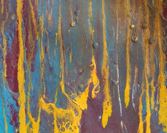 Small fluid original canvas giclee print abstract painting Textured  Painting, Acrylic Painting on Canvas. Wall Art,  art Modern acrylic art