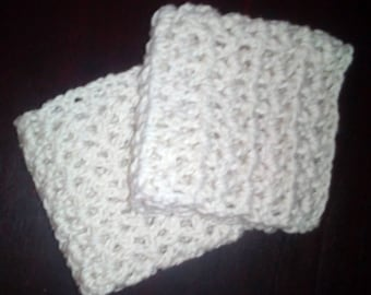 Cotton washcloths or small dishcloths