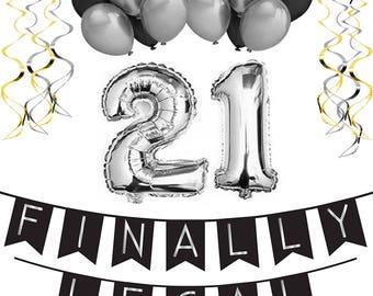21st birthday decor Etsy