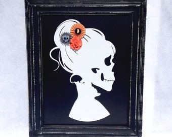 Day of the Dead Skeleton Framed Sign