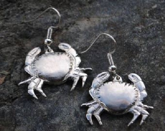 Crab Pewter Earrings