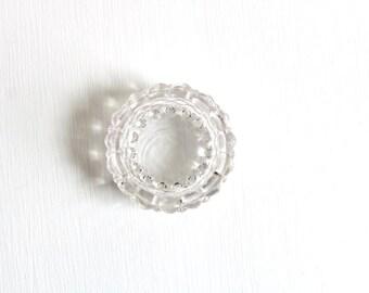 Salt Cellar, Crystal Salt Cellar, Ring Dish, Glass Salt Cellar, Glass Ring Dish, Clear Salt Cellar, Pressed Glass Salt Cellar, Ring Holder
