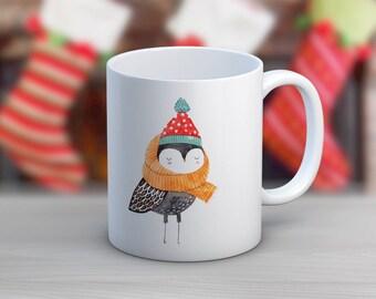 Owl Winter // 11 oz or 15 oz Coffee Mug