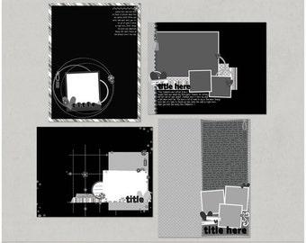 Sample Pack 19 - 8.5x11 Digital Scrapbooking Templates