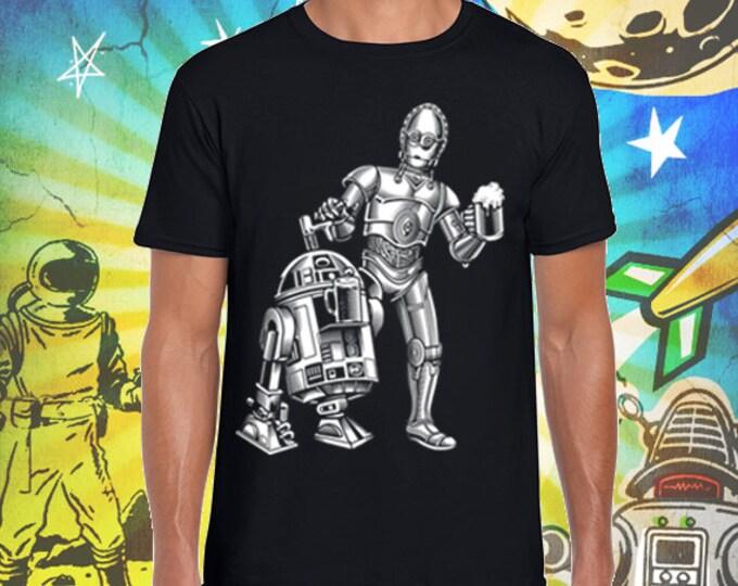 Star Wars / R2D2 and C3PO / Men's Black T-Shirt