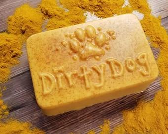 Dog || Dog Shampoo Bar || Dog Grooming || Dog Soap || Dog Gift || Natural Dog Shampoo || Goats Milk || Tumeric and Tamanu Oil