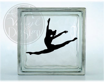 Leaping Dancer Silhouette Vinyl Decal