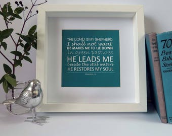 The Lord is my Shepherd Frame, A beautiful Christian Gift!