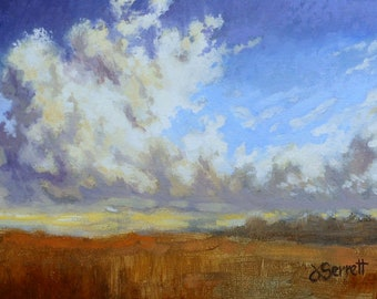 Cloud Forms II, oil on panel, 5 x 7 inches, Jim Serrett