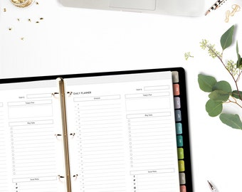 Printable Blog Planner 2018 • A4/Letter size • Minimalistic & Stylish Blogger's Planner
