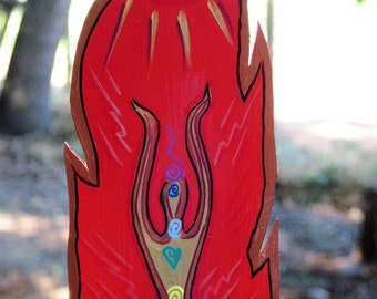 Red,Chakra Goddess Feather Magnet ( Pre-Order / made to order)