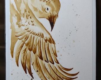 Raven's wing coffee art