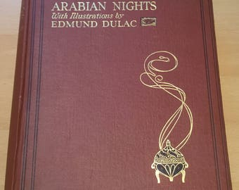Stories from the Arabian Nights retold by Laurence Housman illustrated by Edmund Dulac Vintage Book 1920s