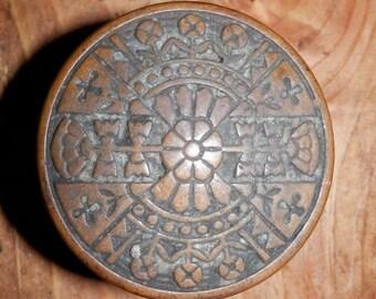 Cast brass vintage eastlake door knob circa 1880