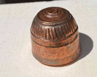Small Antique Copper Box