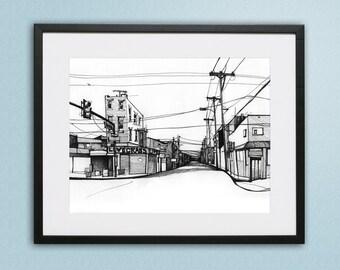 Italian Market, Philadelphia Illustration - Fine art for sale