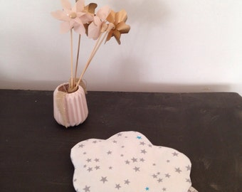 """Heating pad removable cloud grain of rice """"Malmousque stars"""" Collection"""