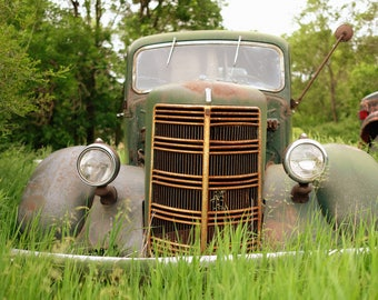 Old Car, Car Print, Midwest, Wall Art, Car Photo, Classic Car, Nebraska, Photography, Fine Art Photography