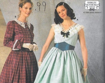 Simplicity 7312 Misses Civil War Dress Costume Sewing Botsford Size 4, 6 and 8 Uncut Southern Belle Gone With The Wind