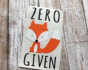 Zero Fox Given Car Laptop Decal