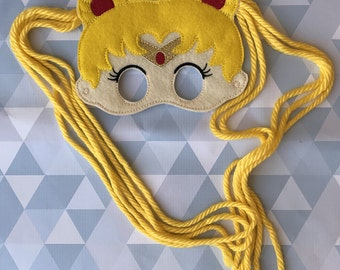 Sailor Moon dress up mask, cosplay,  pretend play, Halloween costume, Party Favor