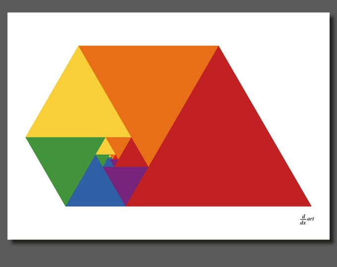 Padovan Triangles 10 [mathematical abstract art print, unframed] A4/A3 sizes