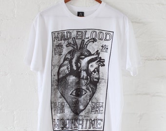 Mad Blood by Arbonium. Limited Edition screen printed t-shirt.