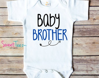 Baby Sister Baby Brother Arrow Bodysuit Shirt New Baby