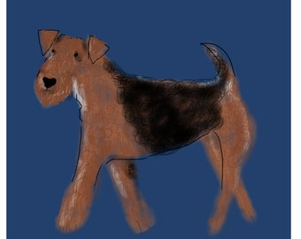 Handsome Airedale Terrier Card