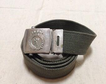 Belgium army belts canvas webbing ! Vintage