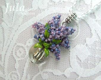 Lilac, Lilac bouquet, Bouquet of flowers, Flower pendant