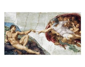 Michelangelo The Creation Of Adam  print poster wall art 11 x 14