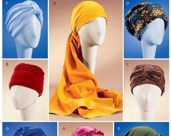 Headwrap Pattern, Easy Hats Pattern, Turban Pattern,  Sz S to L, McCall's Sewing Pattern 4116