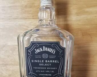 Empty Jack Daniels Single Barrel Select Bottle