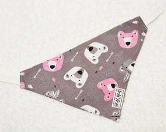 Reversible bandana for dogs and cats. Tie on dog bandana. Dog bandana