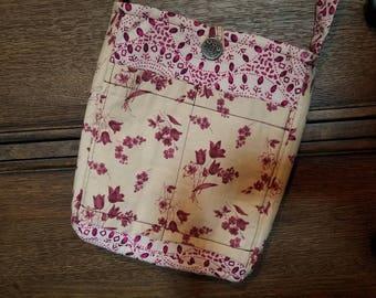 Vintage Boho Floral Cross body Handbag / Purse