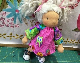 "Owl, 9-10"" Waldorf doll clothes"