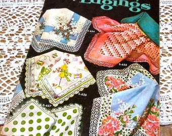 Vintage Crochet Book, Handkerchief Edgings, Hankies, Embellished, Instructional, Mid Century Patterns  (705-13)