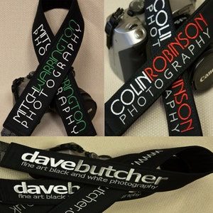 "Personalized or Business Logo Camera Strap 2"" Wide Custom Padded"