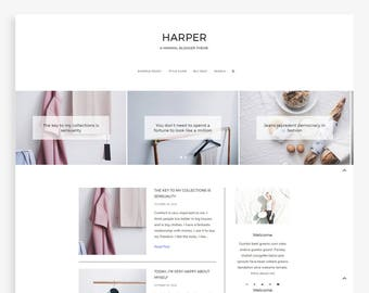Harper • Minimalist Blogger Template • Fashion Blog Theme