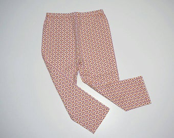 "Toddler girls stretch jersey ""noughts'n'crosses"" pants/leggings - Size 2"