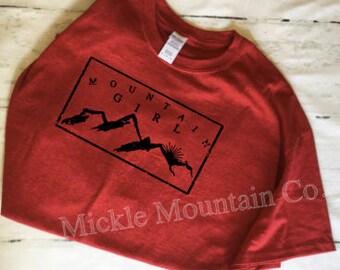Mountain Girl T-shirt, mountains, outdoors shirt, hiking shirt, hunting shirt, camping shirt