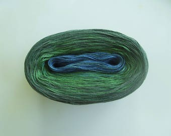 GAELIC MEDLEY II  -- mega -- Color Changing Cotton yarn  865 yards/180 gr  Fingering Weight