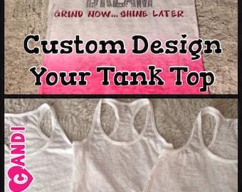 Custom Design your Ombre Burnout Tank Top