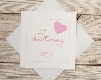 Christening Day Card, On Your Christening Day, Girl Christening Card, Boy Christening Card, Personalised Christening Card, Baby Christening